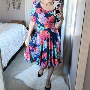 Lularoe floral dress size small